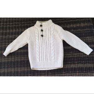 Baby Gap factory cable knit toddler sweater